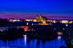 Prague by Night... (kadofr) Tags: castle czech moldau prague river vltava