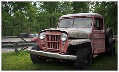 Willys II (daveelmore) Tags: truck junk 4x4 rusty pickup pickuptruck vehicle willys patina lumixleicadgsummilux25mm114