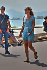 DSE_4546 (ze06) Tags: street woman sexy girl festival glamour dress cannes candid gorgeous blonde minidress croisette