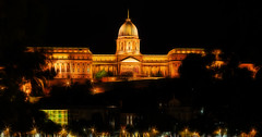 Buda Castle, Budapest (Sterling750) Tags: night zeiss photoshop river twilight hungary shot vibrant sony budapest bank cc filter tone danube hdr embankment mapped samyang a7r fractalius