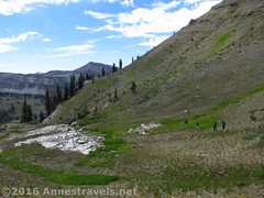 Descending the trail beyond the pass at the head of Upper Darby Canyon (Anne's Travels 4) Tags: wyoming tetons grandtetonnationalpark jedediahsmithwilderness darbycanyon upperdarbycanyon