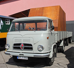 Borgward COE truck (The Rubberbandman) Tags: world auto classic beauty truck work vintage germany outdoor cab transport over engine meeting goods lorry fabric cover german transportation vehicle bremen freight coe motorshow fahrzeug flatbed lastwagen borgward lkw laster cabover b655