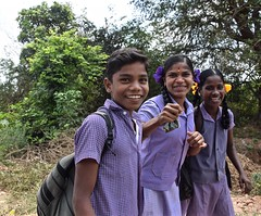 More Smiles (The Spirit of the World) Tags: india walking children happy asia locals smiles roadtrip schoolchildren dailylife cheerful excitement enthusiasm southernindia