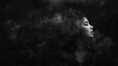 S/M (Wladimir_J) Tags: portrait people blackandwhite woman white black cute art blancoynegro girl beautiful beauty face wind smoke fineart fine