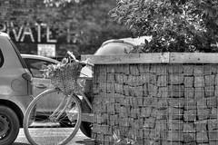Private Parking: Fruit Market (Tom Shearsmith Photography) Tags: flowers bw bike sign fruit architecture photoshop vintage photography arch parking signage hull tone hdr humber tonemap tonema