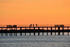 Sundown (Pink Hibiscus) Tags: sunset oregon pier nikon sundown silhouettes explore oregoncoast fx allrightsreserved d800 copyrighted 2016 pinkhibiscus