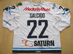 #22 Brian SALCIDO Game Worn Jersey (kirusgamewornjerseys) Tags: game ice hockey del brian worn jersey erc eishockey ingolstadt salcido