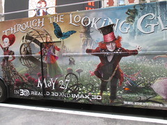 Alice Through the Looking Glass Bus Billboard 9143 (Brechtbug) Tags: street new york city nyc bus film glass cat movie tim looking cheshire near alice broadway lewis disney double billboard johnny billboards carroll through mad depp avenue wonderland 7th 42nd hatter burtons decker in 2016 05192016