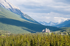 David v Goliath (ndutzie) Tags: park mountain canada spring fuji national alberta banff fujifilm fairmont mountrundle xt1