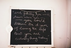 Alan Watts said (ACID FOOL) Tags: light black film alan analog 35mm canon fuji quote room board dream watts pizarra