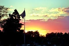 57 (_T_Willi_95) Tags: sunset summer usa lake nature beautiful night canon outdoors boat americanflag edits photograghy lakeorion canont3i rebelt3i
