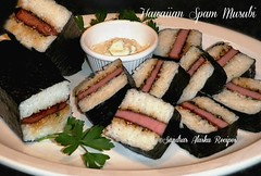 "Sandra's Alaska Recipes: ""SANDRA'S HAWAIIAN SPAM MUSUBI recipe... (sandrasalaskarecipesphotographyretail) Tags: alaska sushi photo amazon rice image sauce spam pic snack hawaiian musubi rolls appetizer recipes maker nori dipping furikake sandras"