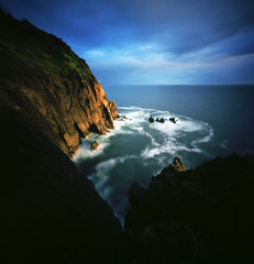 Never too many, never enough (Zeb Andrews) Tags: mountain 6x6 oregon mediumformat landscape pinhole pacificnorthwest oregoncoast lensless analogphotography goldenhour filmphotography neahkahnie realitysosubtle6x6