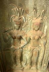 Apsaras: Pair (Neil Noland) Tags: temple cambodia angkorwat siemreap angkor