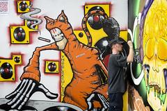 that bloke wilson (james_drury) Tags: birmingham cityofcolours street art festival digbeth thatblokewilson graff graffiti paint vivid action artist markers