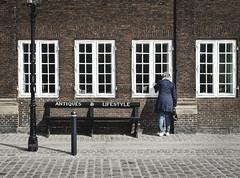 Antiques & Lifestyle (fernando_gm) Tags: street windows people woman color colour copenhagen bench denmark person persona calle mujer gente banco lifestyle ventanas antiques dinamarca copenague copenhague callejera