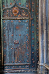 Girona Cathedral Door Blue (Bruce Poole) Tags: door blue de la puerta doors dom eingang gothic entrance historic bleu tur porta entrada porte portal blau entry turen 2015 embrasure ture entrata zugang antiquite  anticando brucepoole gironacatalunyacatalonia catalanpayscatalangironacathedral dingresso