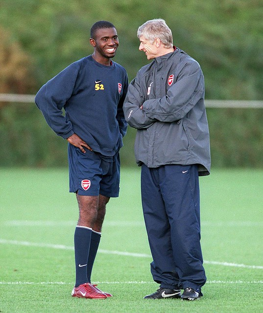 Fabrice MUAMBA and Arsene Wenger