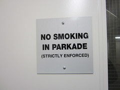 Day 350 - Thank you for smoking (GPrime83) Tags: canon signage nosmoking parkade project365 project366 elph100hs