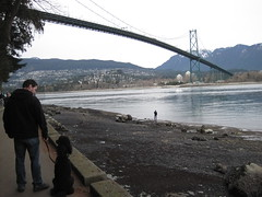 Easter Sunday at the Lion's Gate bridge (jasperthewonderpoodle) Tags: vancouver stanleypark eastersunday