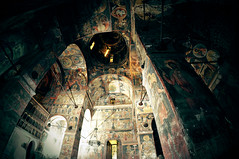 (fusion-of-horizons) Tags: light history church architecture greek icons cross interior murals plan icon unesco fisheye romania cupola dome eastern orthodox orthodoxe fresco 14thcentury byzantine iconography biserica romanian cruce fresca worldheritage lumina roumanie orthodoxy bor byzantium frescoes iconostas vaulting ortodox inscribed iconostasis curteadearges byzanz ortodoxa godslight ortodossa wallachia arhitectura byzantin byzantinisch greaca muntenia  pendentives basarab bizantin istorie icoana xivcentury pendentive valahia tararomaneasca  pandantiv eikn cldire greekcrossplan constantinopolitan bisericasfnicolaedomnesc crucegreacainscrisa basarabiofwallachia alexandrunicolaebasarab pandantivi araromneasc inscrisa lmiagiima1364701 bizantin