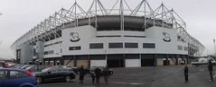 Panorama of outside Pride Park (Paranoid from suffolk) Tags: football stadium soccer derbyshire derby 2012 stadia pridepark derbycountyfc