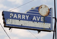 Parry Ave (tikitonite) Tags: broken beer sign vintage rust neon wine ghost rusty parry faded ave signage americana togo fading roadside patina unlit