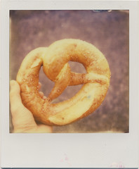 this pretzel was the size of my face (daveotuttle) Tags: sx70 testfilm impossibleproject px680 pioneerfilm