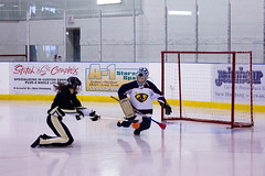 Polar Ice vs Vipers (blehmanphotos) Tags: ontario canada ice sports goalie shot save womens broomball arena finals awards nationals stratford 2012 polarice vipers newhamburg canadiannationals