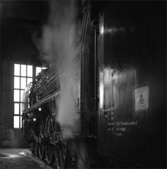 03 001 on shed (RhinopeteT) Tags: railway steam east german
