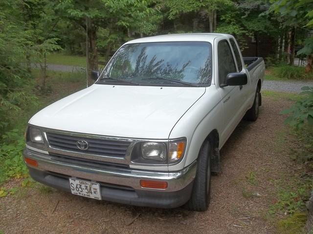 old white truck pickup toyota tacoma 1995 manual