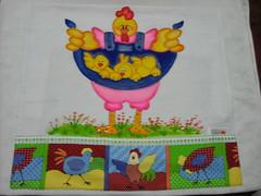 Pano de prato Super me (Pintura em tecido. Panos de prato.) Tags: galinha cozinha panodeprato panodecopa