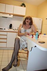 new66433-IMG_5297t (Misscherieamor) Tags: kitchen stockings tv feminine cd tgirl transgender mature sissy tranny transvestite slip satin crossdress ts gurl tg paintednails travestis travesti travestie m2f paintedtoes xdresser tgurl