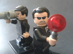 Lego Men in Black agents (CustomLego) Tags: k movie j aliens agents meninblack