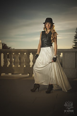Shushanna_3034 (Krapivin) Tags: sunset hot girl hat canon model dress mark tan ii 5d alexey krapivin
