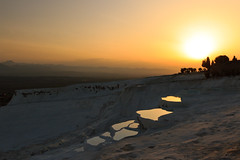 Almost Like Another Planet... Pamukkale Sunset (UNESCO World Heritage) [Explore #2, THANK YOU] (Maria_Globetrotter) Tags: world sunset heritage canon turkey landscape eos unesco explore april unescoworldheritage pamukkale 2012 solnedgng denizli 550d 1585 vrldsarv