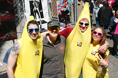 Banana Friends (shaire productions) Tags: sf sanfrancisco street city friends summer people urban streets smile smiling festival fun happy photography photo costume spring outfit colorful candid seasonal group culture hippy dressup fair banana celebration event fantasy photograph wierd gathering theme faire activity fest cultural vibe howardstreet goodvibes howwierd howweird howweirdstreetfaire howweirdstreetfair howweirdstreetfest