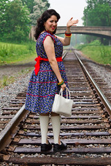 Retro Mama! (VintageReveries) Tags: railroad cute sexy retro pinup disability legbraces