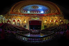 Chicago, IL - Chicago Theatre (Matt Pasant) Tags: summer panorama usa chicago photography illinois theater pano may landmark il fisheye indoors musical handheld movies memorialday windycity chicagotheatre ptgui canoneos5dmarkiii