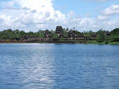 View of moat surrounding Angkor Wat (oldandsolo) Tags: cambodia buddhism angkorwat worldheritagesite siemreap moat buddhisttemple angkorarchaeologicalpark khmerkingdom theruinsofangkor buddhistfaith angkortempleruins worldslargesthindutemple