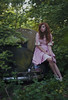 (yyellowbird) Tags: selfportrait abandoned girl car vw forest bug volkswagen beetle lolita cari 1961