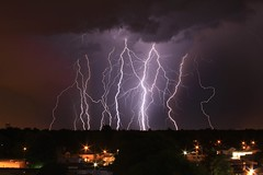 5-31-12 (Abby L's) Tags: city light storm weather night clouds danger dark nighttime missouri bolt thunderstorm lightning mothernature lightningbolt stacked springfieldmo photostacking