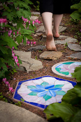 "Day 142: ""Along the Path"" (FallingLeavesPhotography) Tags: portrait selfportrait feet girl june rock portraits canon garden walking photography foot blog rocks legs path walk leg portraiture 365 142 2012 day142 rockpath gardenpath 366 creativeportraits alongthepath canon5dmarkii fallingleavesphotography"