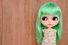 New green factory girl