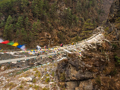 Larja bridge. (everytin irie) Tags: nepal namche everestbasecamp larjabridge namchevdc