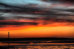 HDR Sunset (Robert D Thomas) Tags: uk blue sunset sky orange sun set wales night clouds fire high north valley definition lit setting isle hdr anglesey holyhead