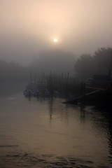 Misty Morning (Patrick Costello) Tags: uk mist d50 westsussex arundel riverarun