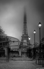 Paris 1 (Fred Fogherty) Tags: light bw paris tower fog 50mm nikon exposure raw eiffel fred hdr dx 18mm d7000 fogherty