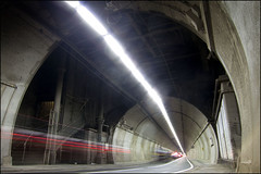 Rotherhithe tunnel (World of Tim) Tags: road camera old light london cars june thames canon underground point tim long exposure photographer crossing time sunday under victorian trails ground tunnel powershot vanishing rotherhithe compact 2012 saunders shadwell s100