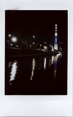Tokyo Sky Tree () Tags: film japan tokyo lomolca fujifilminstax instantback